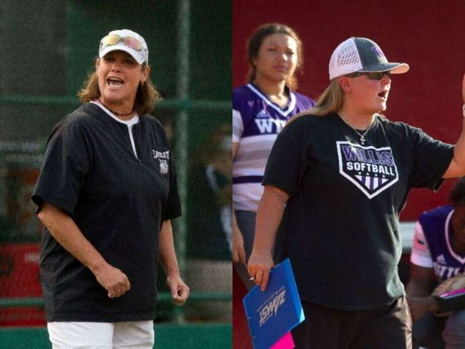 Former Willis softball coach Stephanie Shelly (left) and new Ladykats head coach Lyndsey Lipscomb (right). Photo: Conroe Courier