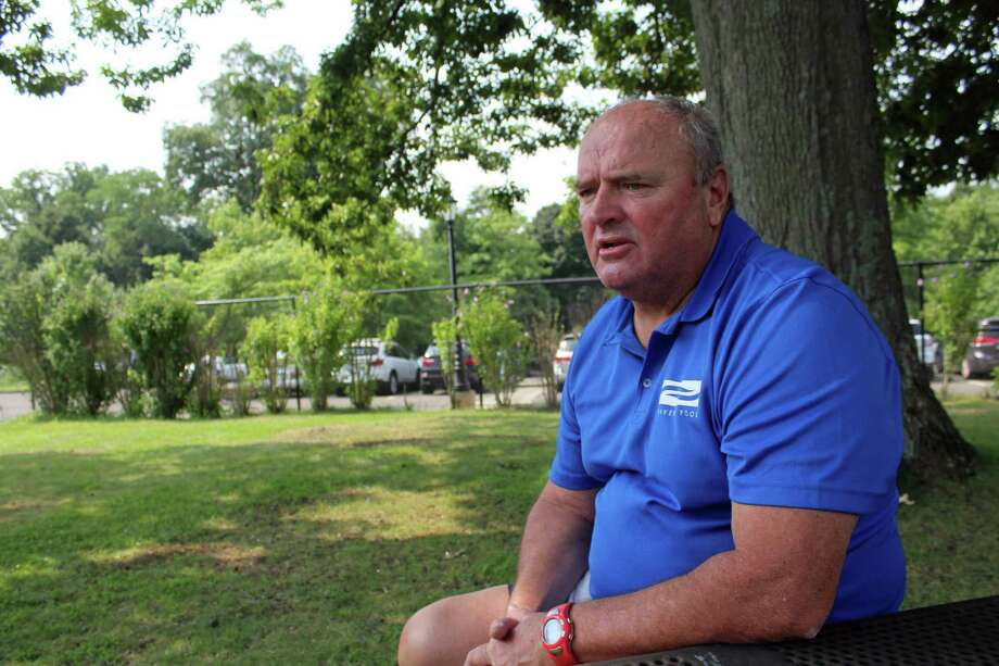 New Canaan High track and cross country coach Bill Martin ran in three Olympic Trials in the '70s and '80s. Photo: Humberto J. Rocha / Hearst Connecticut Media / New Canaan News