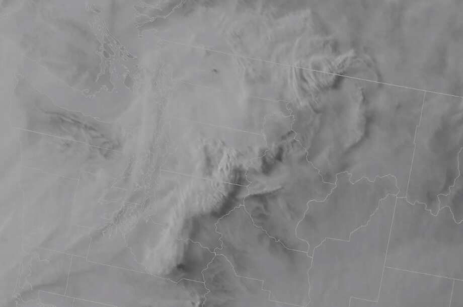 Satellite imagery of smoke flowing into Western Washington from Canada and northern Washington wildfires. Photo: National Weather Service