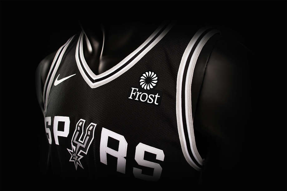 The San Antonio Spurs and Frost Bank announced an expanded multi-year marketing partnership that will make the banking, investments, and insurance company the first-ever jersey sponsor of the team. Photo: Courtesy Spurs Sports & Entertainment