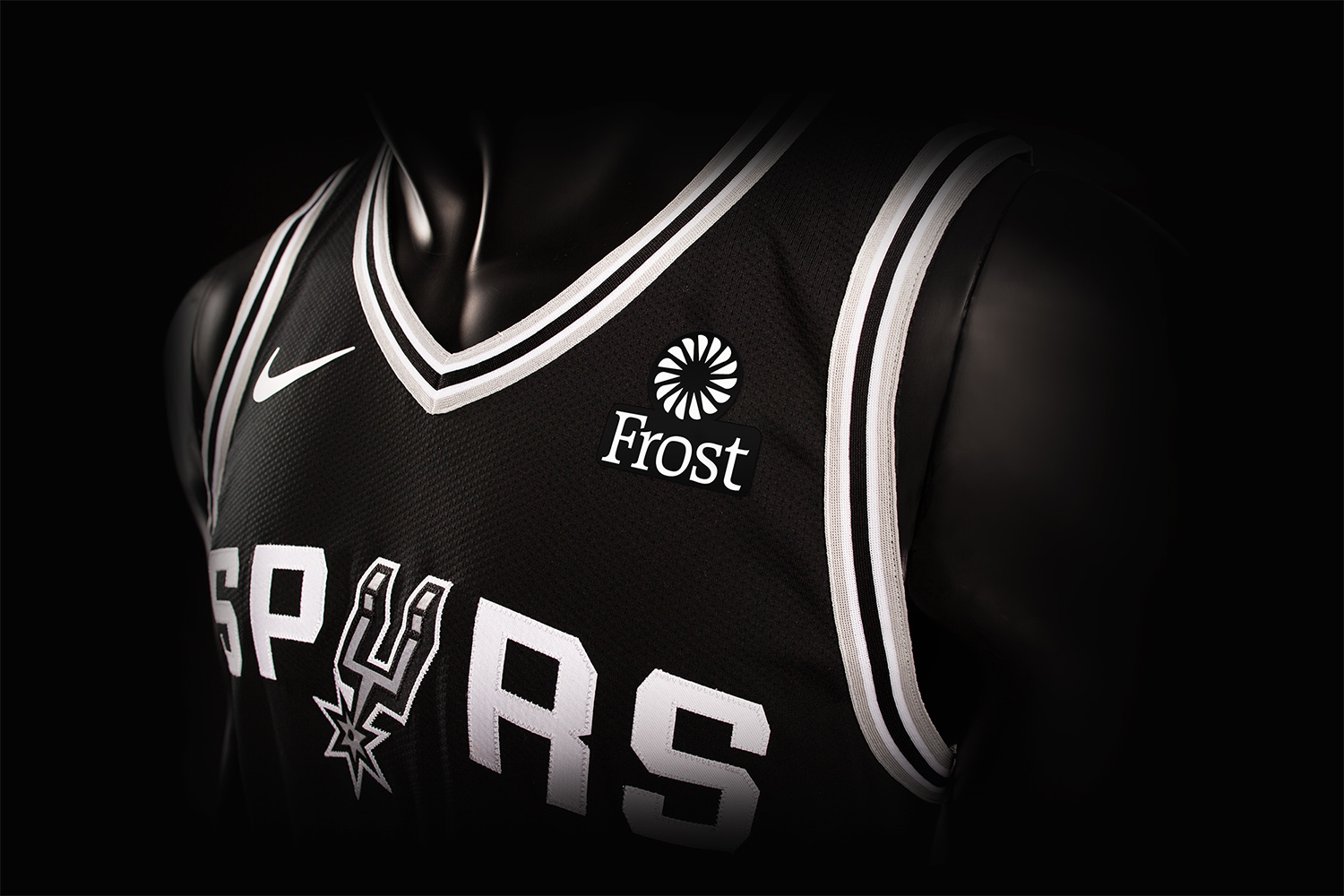 e43046693d2 For the first time ever, Spurs jerseys will feature a corporate logo  beginning this season - San Antonio Express-News