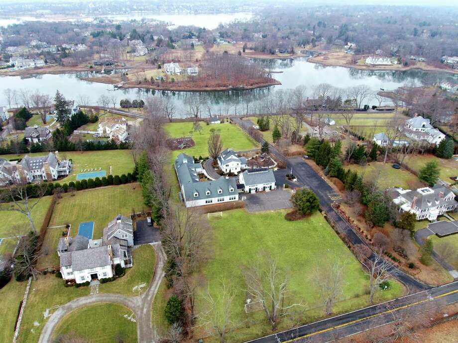 An aerial view of 90 Peartree Point Road. Photo: /provided By Liz Parks