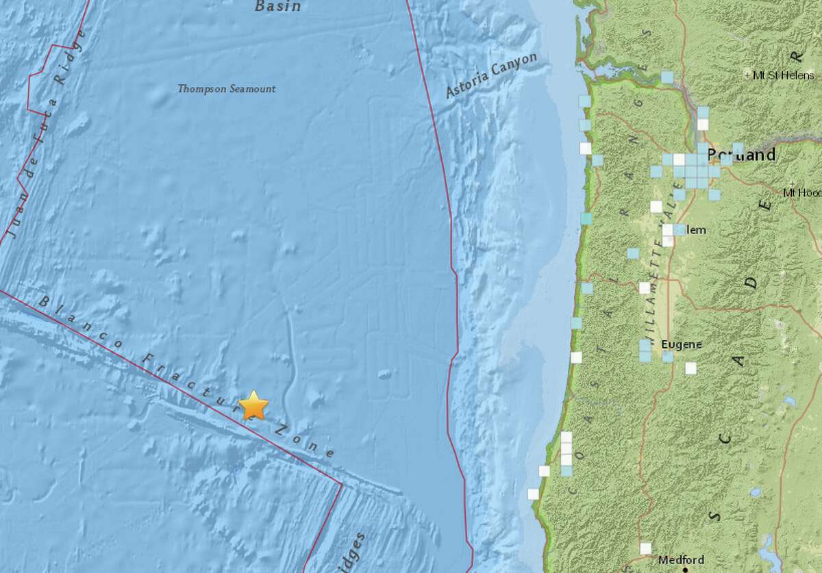 A preliminary magnitude 6.2 earthquake struck early Wednesday morning off the coast of south-central Oregon, the United States Geological Survey reported.
