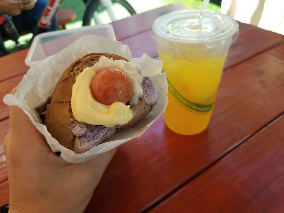 Former Houston Dynamo star Brian Ching is launching a new food truck called Hula Dog, a franchise from a Hawaii-based hot dog concept specializing in Polish sausages or all-beef wieners stuffed in a bun with a toasted core. The bun options are white, wheat and purple taro and bacon. Photo: Yelp