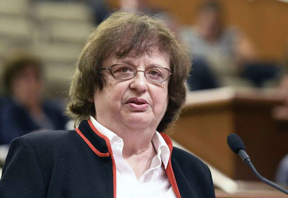 "New York's attorney general Barbara Underwood laid out arguments in August 2018 behind 23 states opposing the repeal of ""net neutrality"" rules, giving broadband providers the right to charge extra for enhanced bandwidth for content providers that want to pay for it. (AP Photo/Hans Pennink, File) Photo: Hans Pennink / Associated Press / FR58980 AP"
