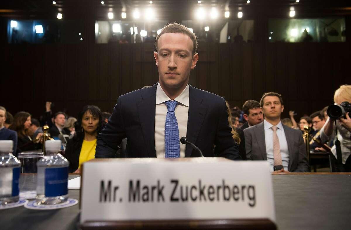 $1,712,328 per hour - Facebook founder and CEO Mark Zuckerberg
