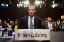 Facebook founder and CEO Mark Zuckerberg arrives to testify following a break during a Senate Commerce, Science and Transportation Committee and Senate Judiciary Committee joint hearing about Facebook on Capitol Hill in Washington, DC, April 10, 2018. Fac