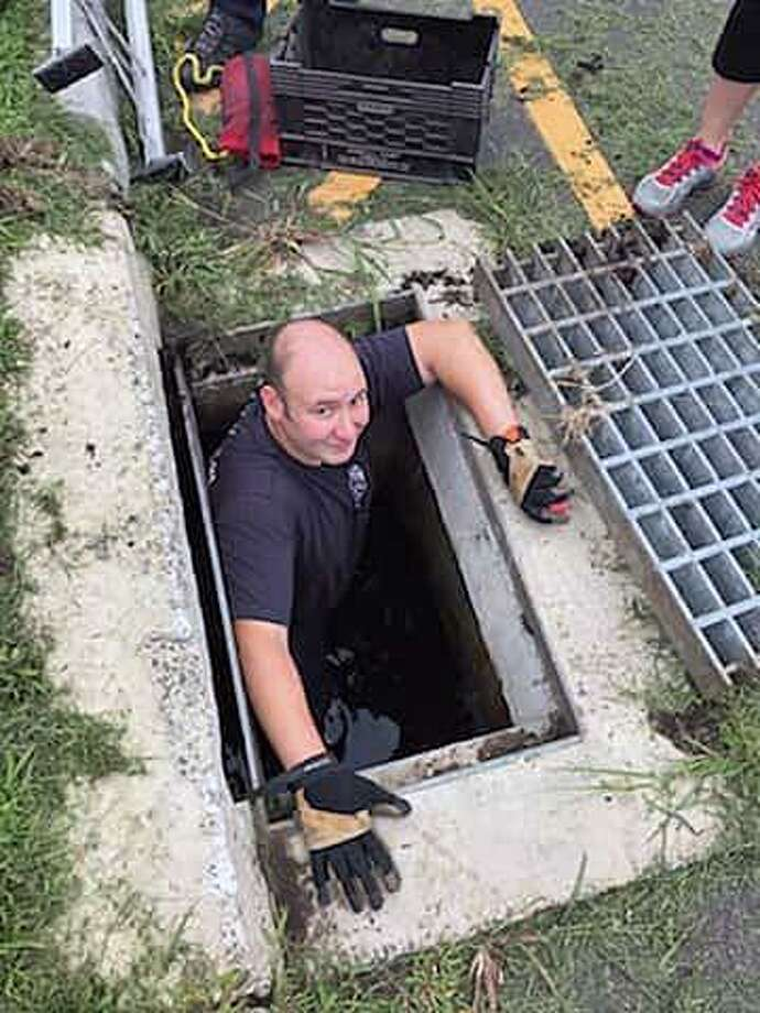 A bunny was rescued from a storm drain in Danbury, Conn., on Aug. 22, 2018. Photo: Contributed Photo / Danbury Fire Department / Contributed Photo / Connecticut Post Contributed