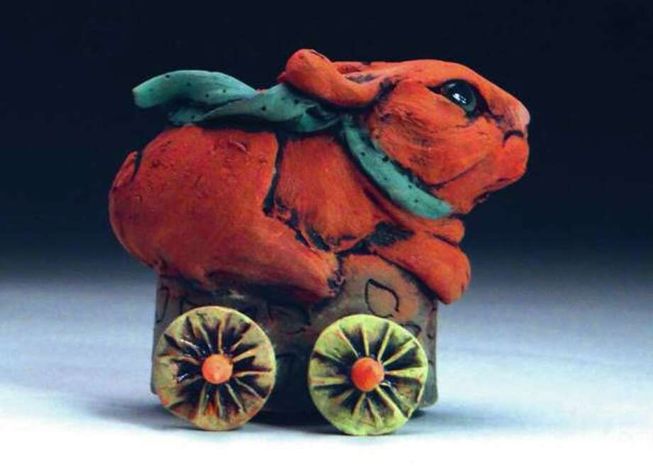 This ceramic rabbit Susan Bostwick will be part of the Please Touch! exhibit at the Edwardsville Children's Museum. Photo: For The Telegraph