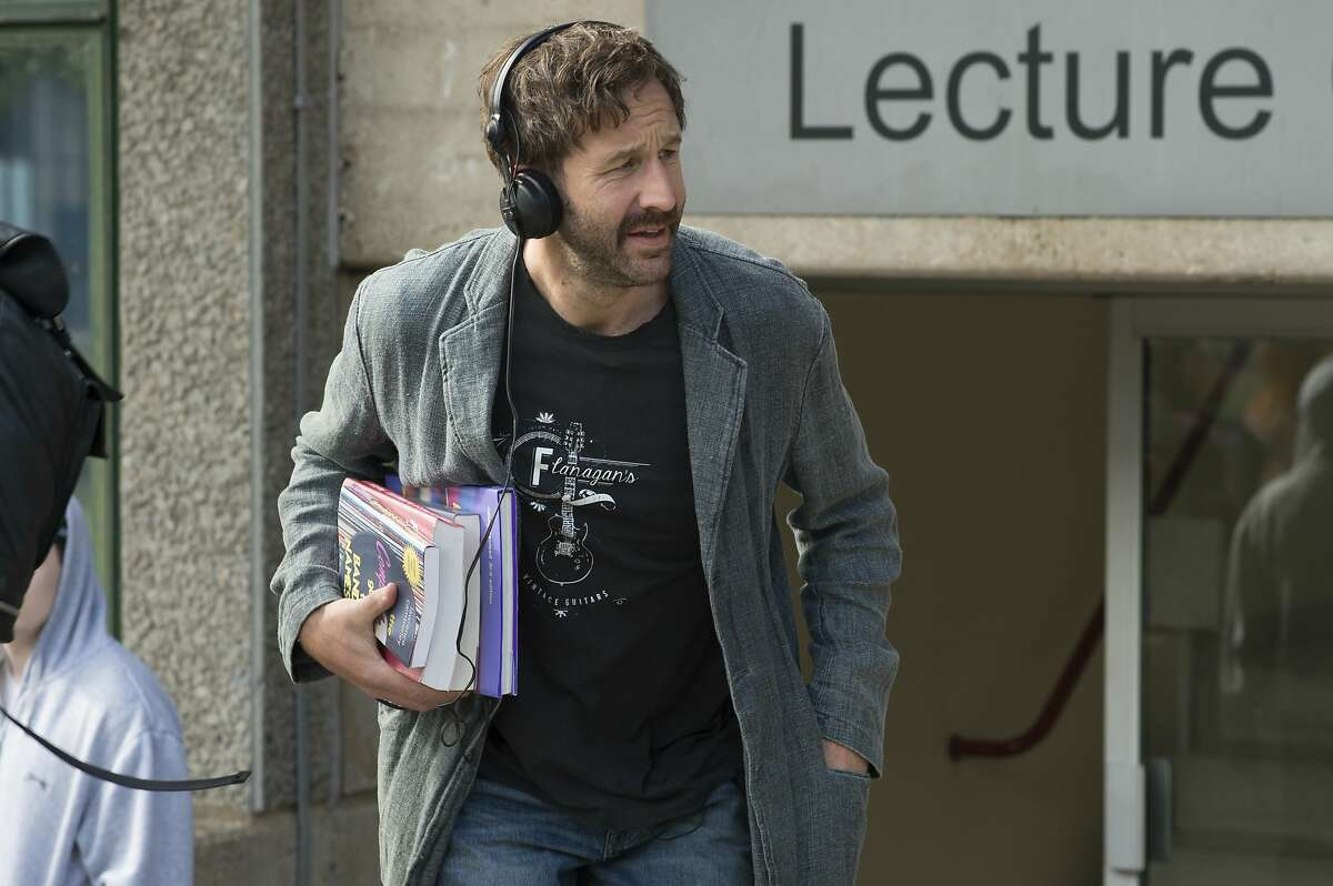 """This image released by Lionsgate and Roadside Attractions shows Chris O'Dowd in a scene from """"Juliet, Naked."""" (Alex Bailey/Lionsgate and Roadside Attractions via AP)"""