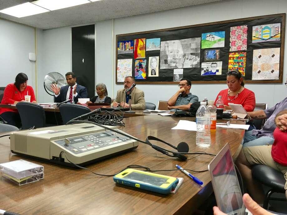 Bridgeport BOE holds evaluation session of superintendent. August 21, 2018 Photo: Linda Conner Lambeck