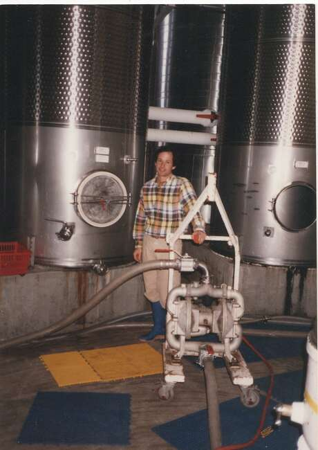 Gideon Beinstock as an assistant winemaker at Renaissance Winery in 1992. The next year, Beinstock would become the Renaissance head winemaker. Photo: Courtesy Of Gideon Beinstock