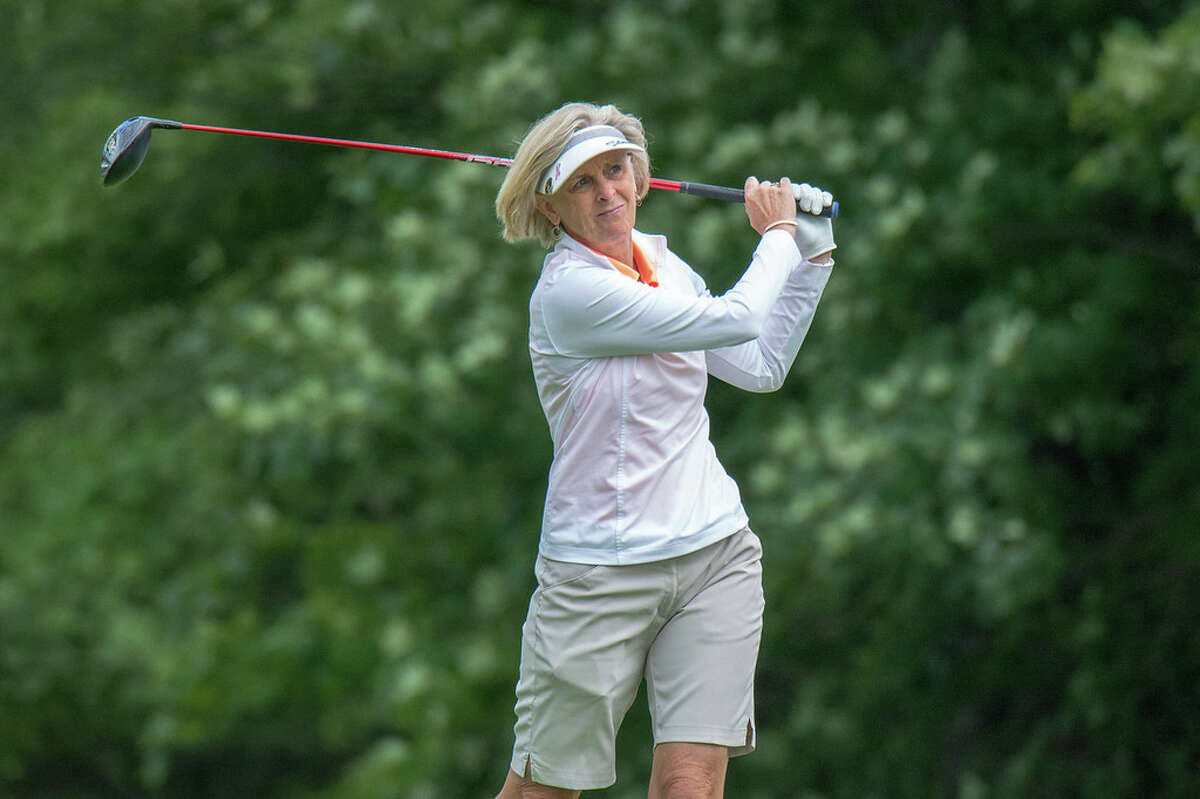 Sue Kahler of Ballston Spa Country Club during the first round of the New York Women's Senior Amateur Championship atat Thendara Golf Club.