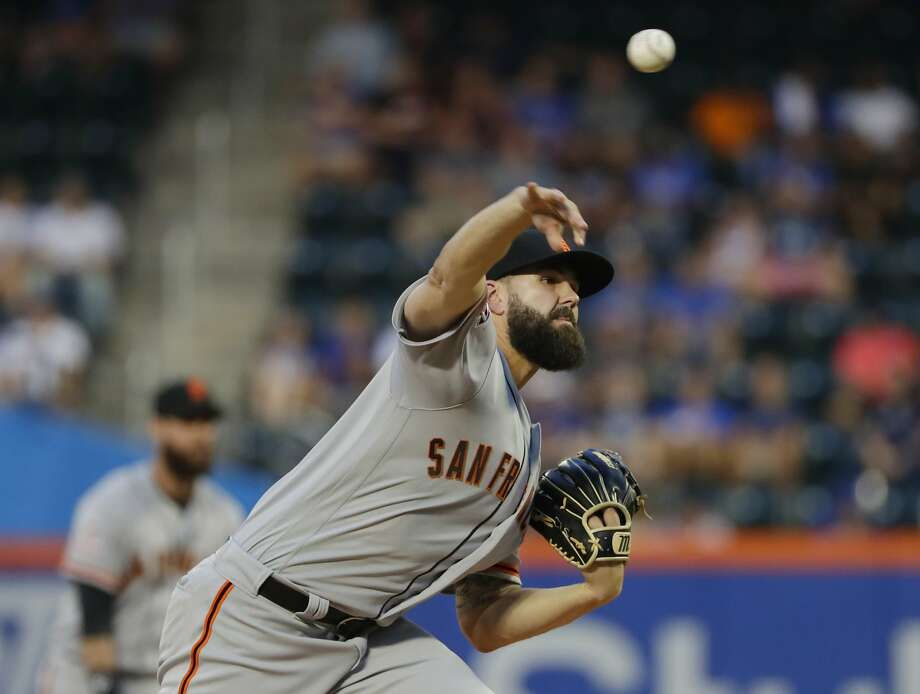 San Francisco Giants' Casey Kelly delivers a pitch during the first inning of the team's baseball game against the New York Mets on Wednesday, Aug. 22, 2018, in New York. (AP Photo/Frank Franklin II) Photo: Frank Franklin II / Associated Press