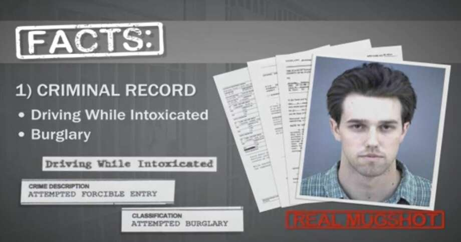 PHOTOS: The facts on BetoThis screen grab comes from a May 2012 TV ad from then-Rep. Silvestre Reyes, D-El Paso, saying challenger Beto O'Rourke had a criminal record (VIMEO video, August 2018). >>Learn more about the Senate candidate... Photo: Selby, Gardner (CMG-Austin)