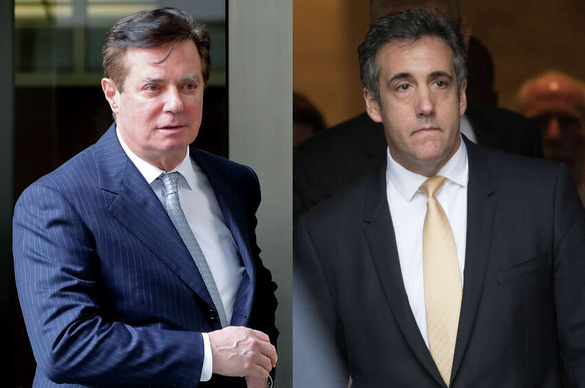 The conviction this week of Paul Manafort (left) and guilty plea from Michael Cohen (right) has renewed efforts to amend New York's double jeopardy laws so state criminal cases can still be brought against people pardoned by President Donald J. Trump.(AP Photo/File)