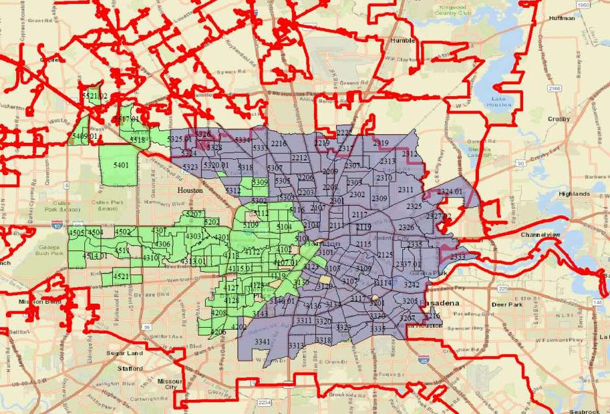 In the horseshoe area, Houston is as affordable as El Paso. In the arrow, though, it is more like Chicago or Miami.