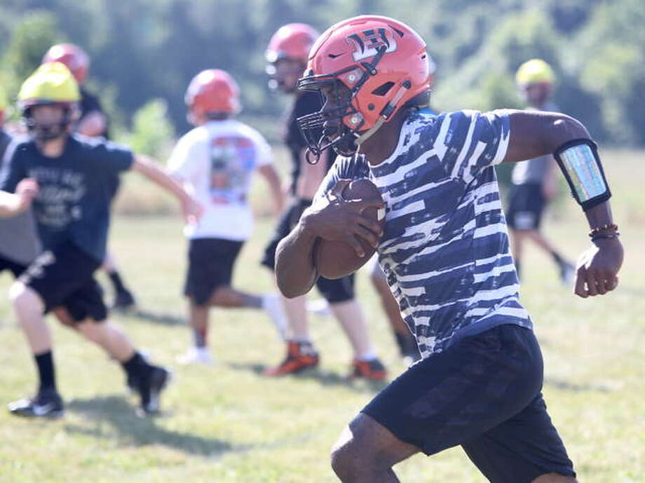 Beardstown's Pascal Guilavogui takes off during a recent practice.