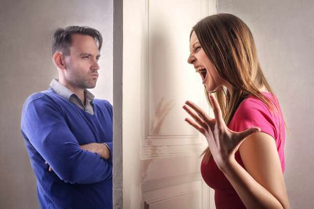 A man doesn't like her wife locking doors.