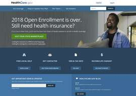 The website for HealthCare.gov on Friday, July 6, 2018, in Washington. A congressional watchdog says the Trump administration needs to step up its management of sign-up seasons for former President Barack Obama�s health care law after mixed results last year amid a failed GOP drive to repeal it. (HHS via AP)