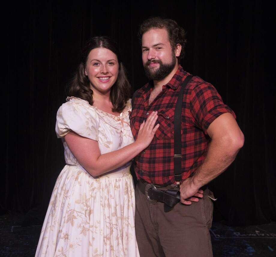 """Haley Reynolds as Milly Bradon and Jared Barnes as Adam Pontipee in The Players Theatre Company's """"Seven Brides for Seven Brothers."""" This show opens The Players 2018-19 season at the Owen Theatre on Aug. 31. Photo: Photo By Brad Meyer"""