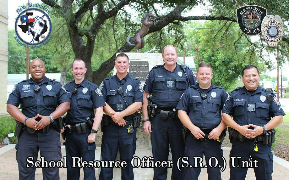 New Braunfels police have named school resource officers in a new partnership between the department and New Braunfels ISD. Photo: New Braunfels Police Department