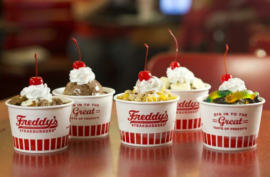 The many custards diners at Freddy's can order. Photo: Courtesy: Freddy's Frozen Custard & Steakburgers