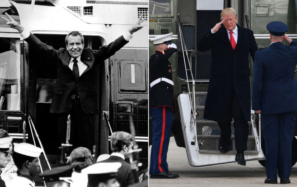 Columnist Joel Connelly writes that Republicans must, as they once did with then-President Richard Nixon as his lies around the Watergate scandal spiraled out of control, come together and begin impeachment proceedings against President Donald Trump. Keep clicking for a slideshow of all the times Washington state has sued the Trump administration.