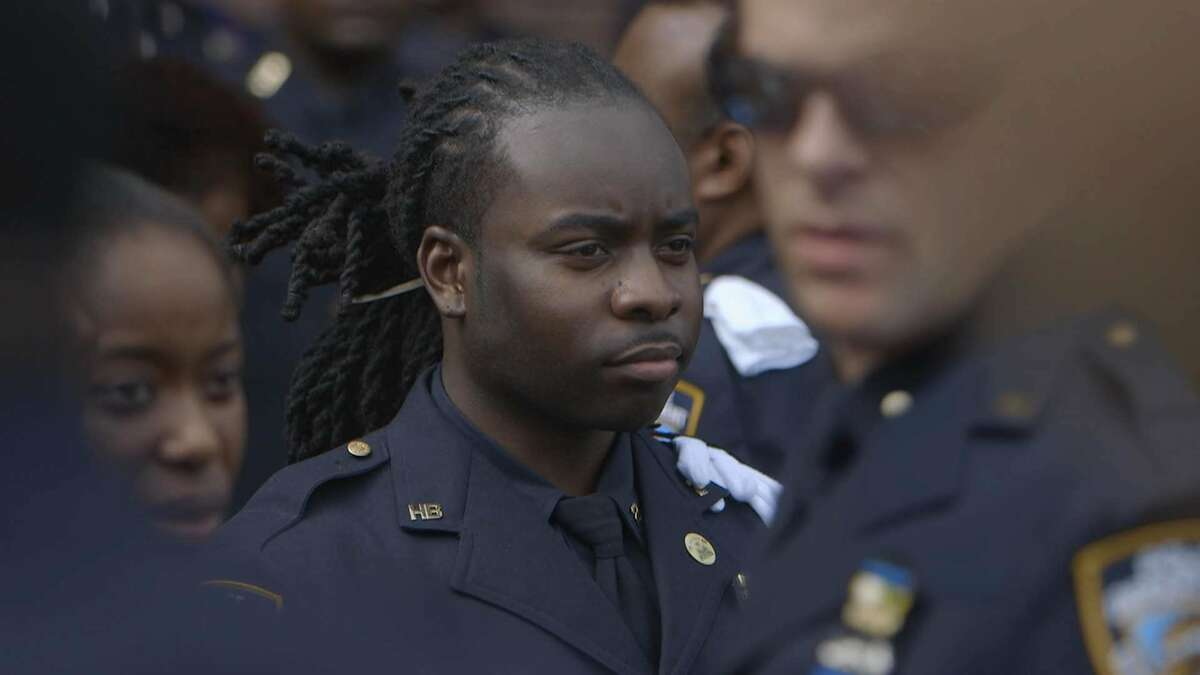 Edwin Raymond, an NYPD officer who has run into trouble for complaining about policing quotas, in the docementary