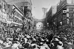 TIMELINE25D/B/16APR99/SC/HO--Return of the 363rd Infantry 91st Division-from France to San Francisco, April 22, 1919 at the end of WWI.