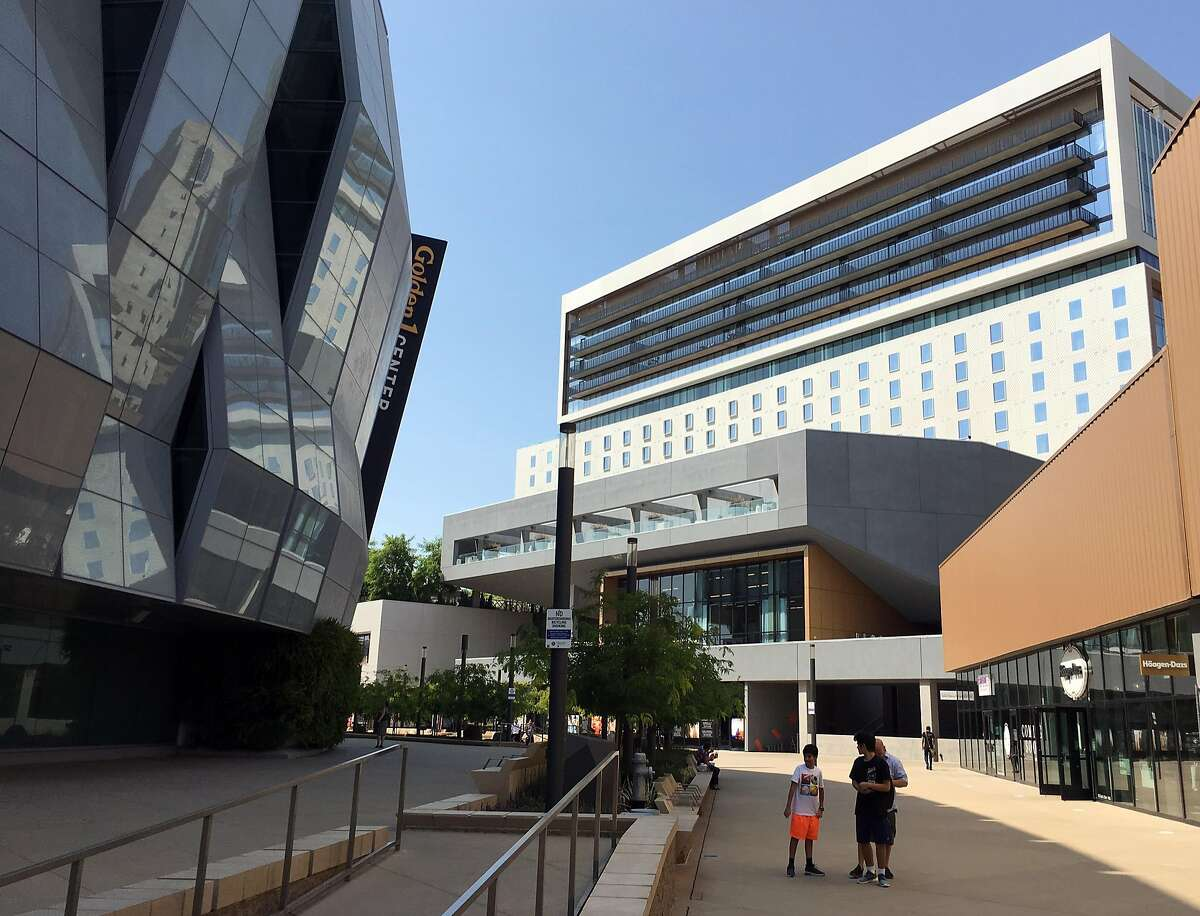 The Kimpton Sawyer Sacramento hotel is part of the Downtown Commons (DoCo) complex that includes the new Golden 1 Center arena.
