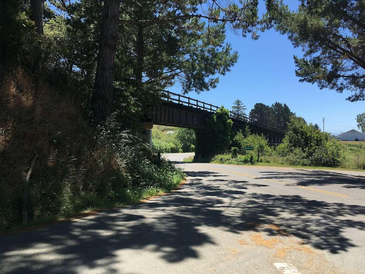 Northwestern Pacific Railroad bridge just outside Loleta in Humboldt County