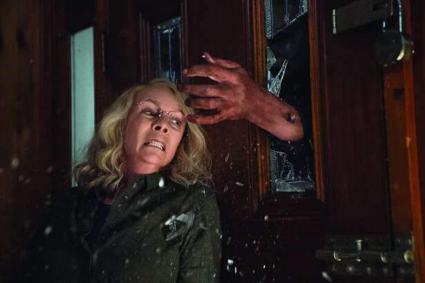 """Jamie Lee Curtis returns as Laurie Strode in the new """"Halloween"""" film, which is a sequel to the first movie."""