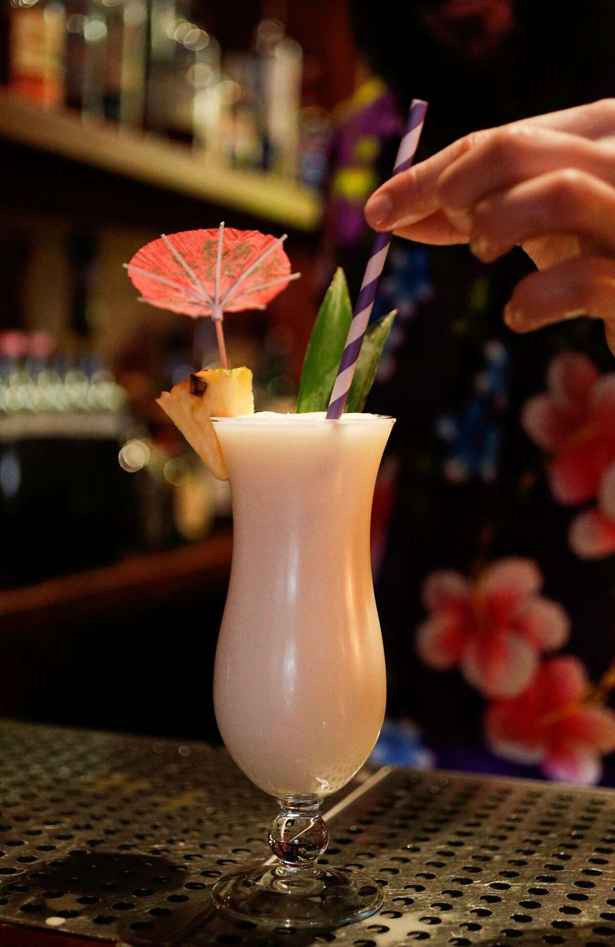 A refreshing cocktail is served with a paper straw at the Pagan Idol where they have been using paper straws in their drinks for the past year and a half, as seen on Friday, Jan. 19, 2018 in San Francisco, Calif. There is a bill in California is passed would ban plastic straws at dine-in restaurants unless a customer asks for one.