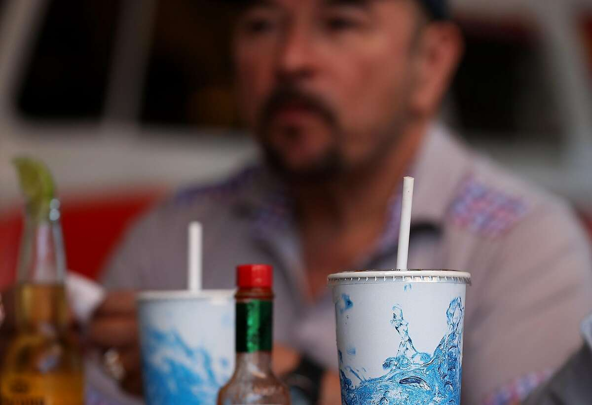 SAN FRANCISCO, CA - JUNE 21: Paper straws sit soft drinks at Wipeout Bar & Grill on June 21, 2018 in San Francisco, California. San Francisco, Oakland and Berkeley are all considering bans on plastic straws but are facing the difficult challenge of finding suppliers that make paper straws. Aardvark Straws, one of a few paper straw manufacturers in the United States, has seen a 5000 percent surge in sales over the past two years and currently is about two months behind on production. (Photo by Justin Sullivan/Getty Images)