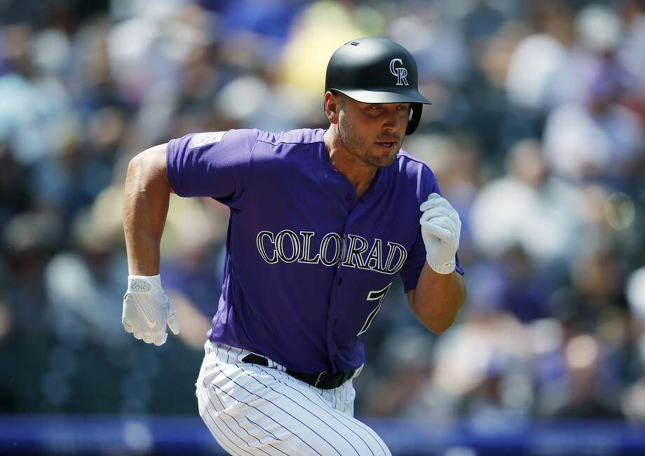 Matt Holliday, an All-Star with Colorado in 2006-08, went 0-for-3 against the Padres in his return to the Rockies. Photo: David Zalubowski / Associated Press
