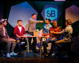 Scene from '#bros,' a problematic play directed by Rose Oser for FaultLine Theater