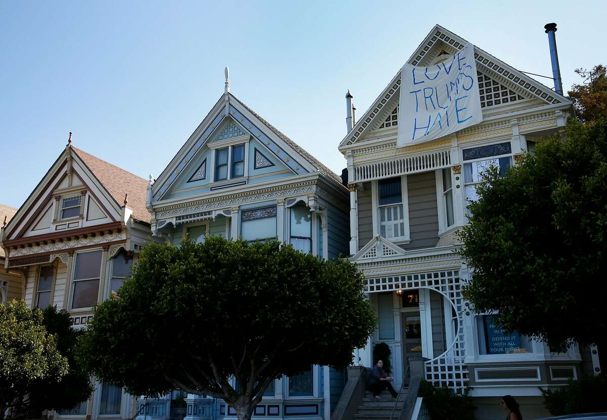 What's to happen to our city?� A scene at Alamo Square