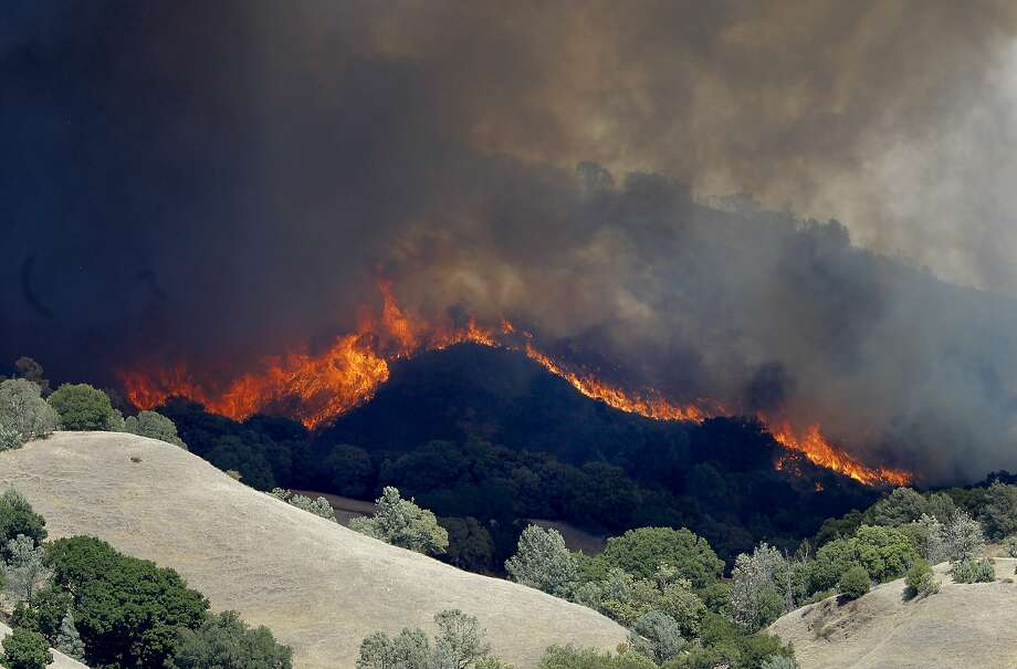Fire breaks out near summit of Mt  Diablo - SFGate