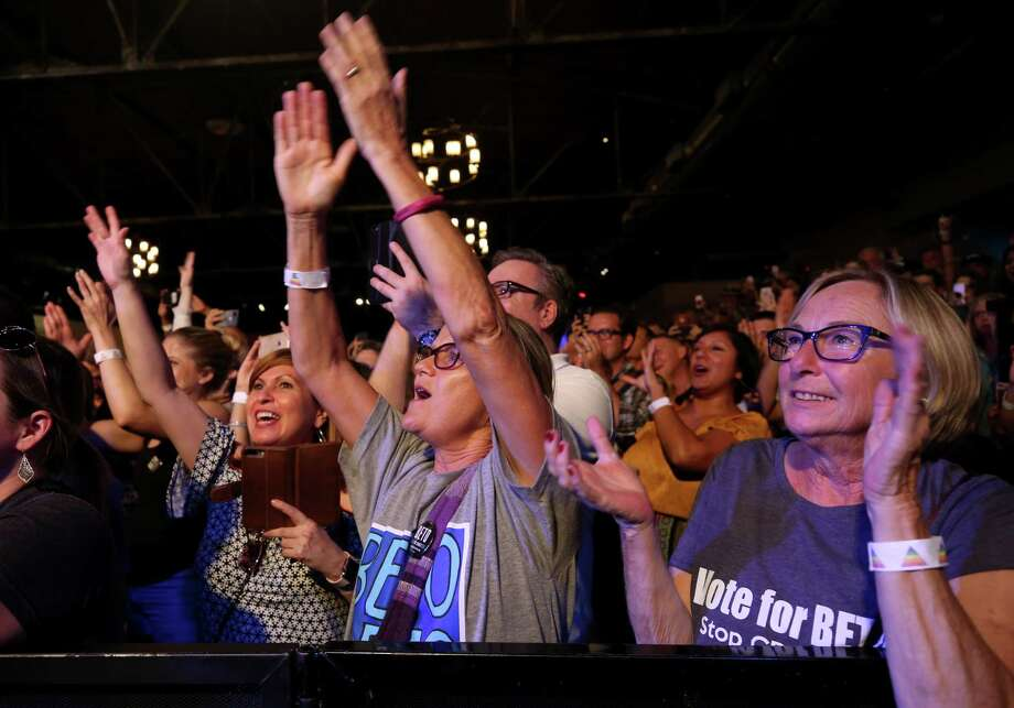"People cheer as U.S. Senate candidate Beto O'Rourke takes the stage during the ""Bands with Beto"" rally at Warehouse Live Thursday, Aug. 23, 2018, in Houston. Photo: Godofredo A. Vasquez, Staff Photographer / 2018 Houston Chronicle"