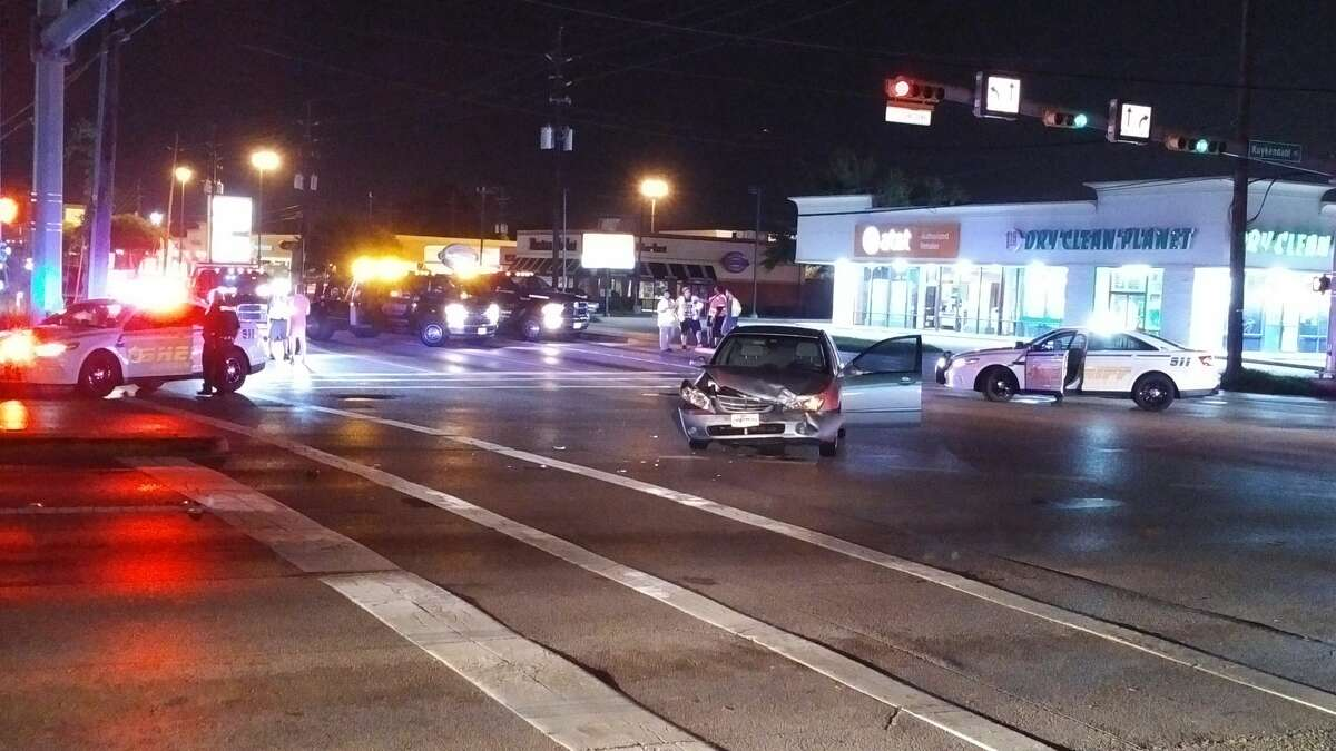 A deputy constable was injured in a car crash on Kuykendahl and Louetta on Friday, Aug. 24, 2018.
