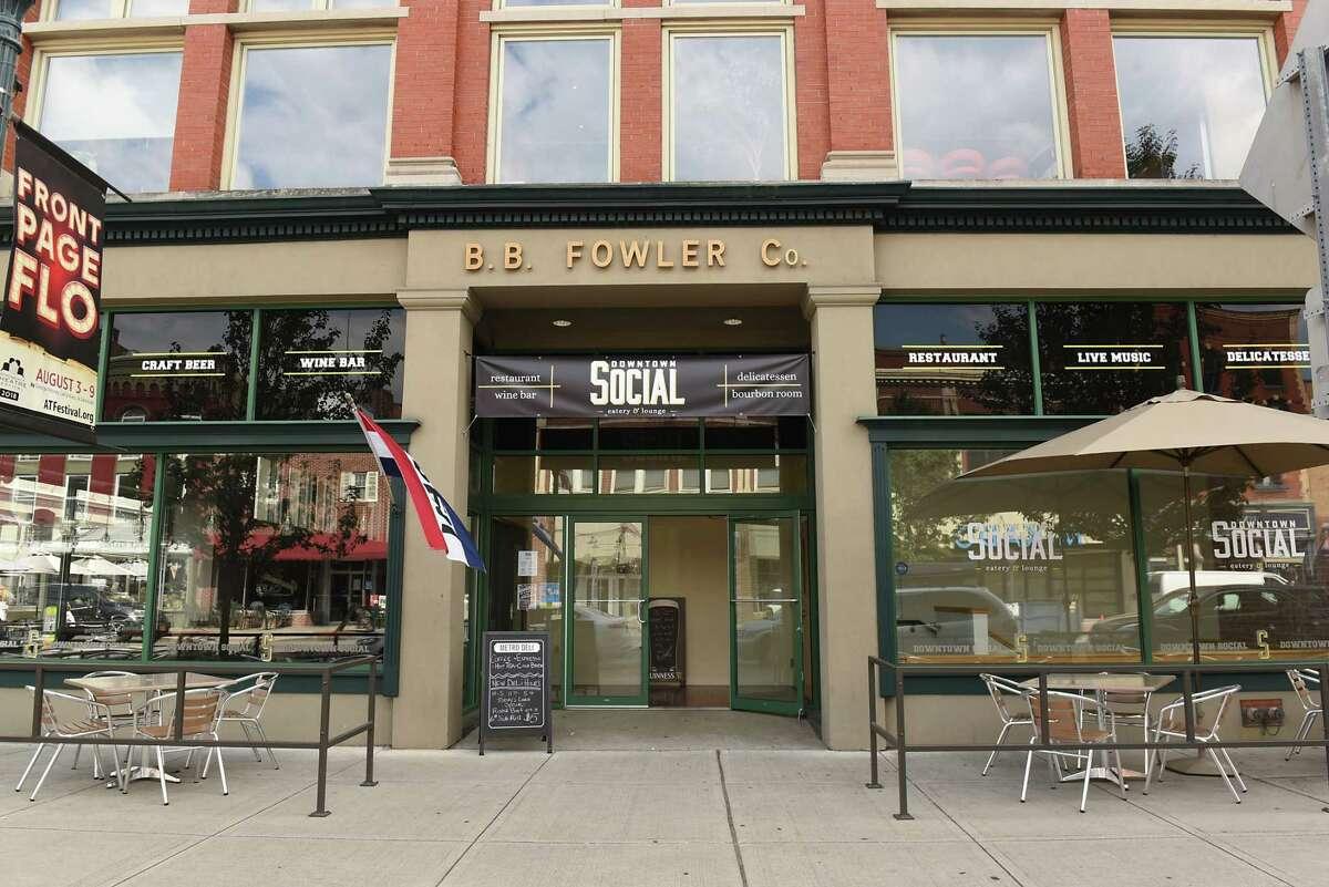 Exterior of Downtown Social on Thursday, Aug. 16, 2018 in Glens Falls, N.Y. (Lori Van Buren/Times Union)