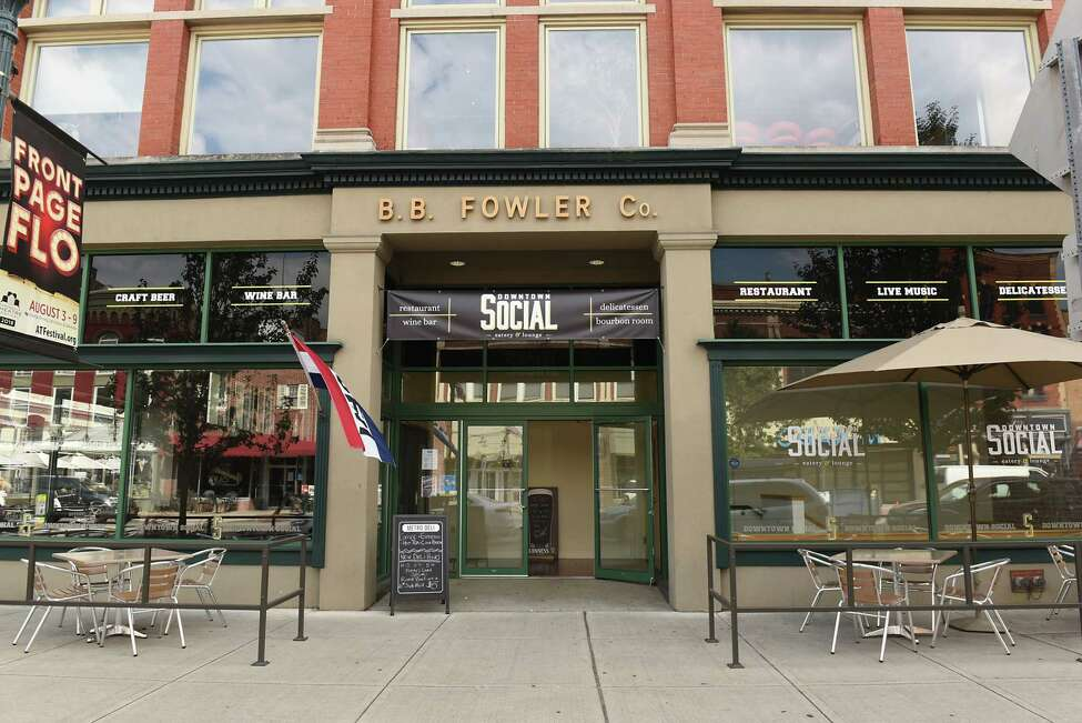 Exterior of Downtown Social on Thursday, Aug. 16, 2018 in Glens Falls, N.Y. (Lori Van Buren/Times Union)