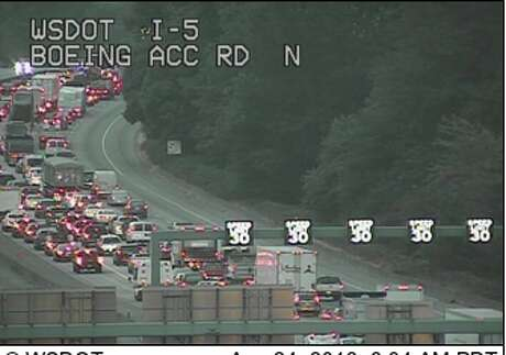 Traffic camera footage from this morning. Photo: WSDOT