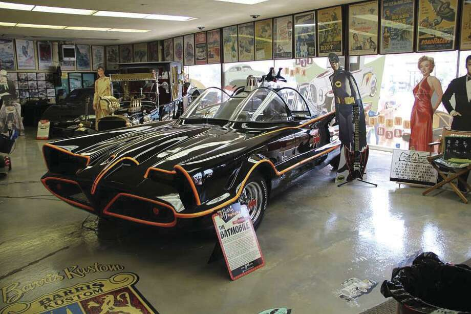 George Barris' Batmobile, created for the TV series, was on display at Barris Kustom. (Heidi Van Horne photo)