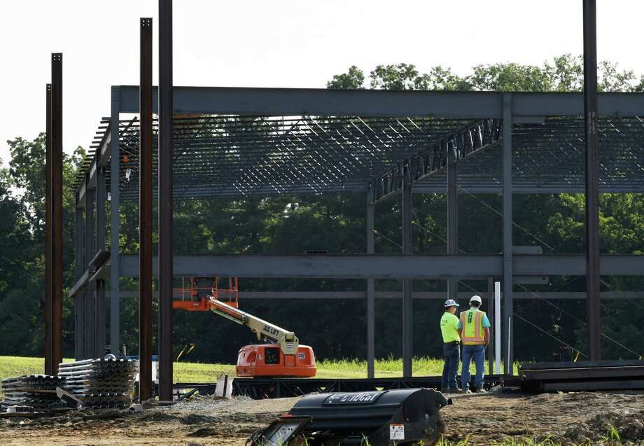 Monolith Solar's new headquarters in the Vista Technology Campus is under construction on Friday, Aug. 24, 2018, in Slingerlands, N.Y. (Will Waldron/Times Union) Photo: Will Waldron, Albany Times Union / 20044647A