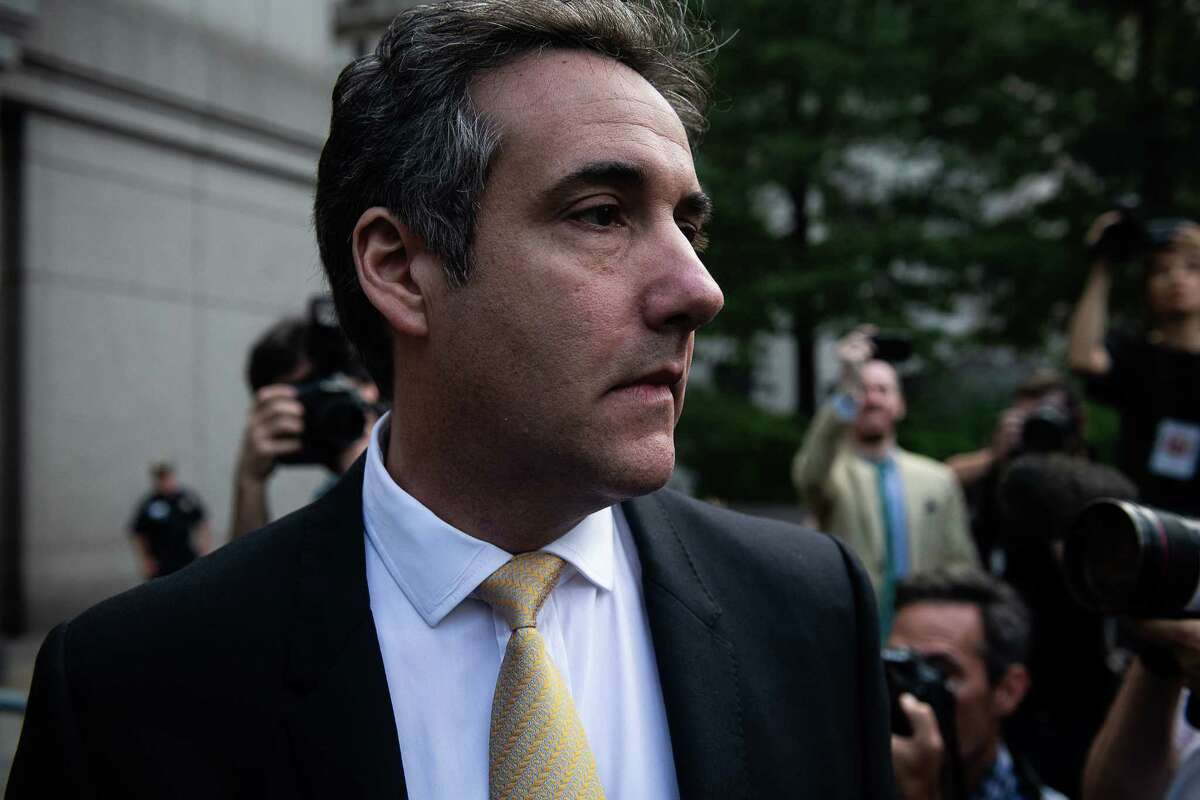 Michael Cohen, former personal lawyer to President Donald Trump, exits from federal court in New York on Aug 21.