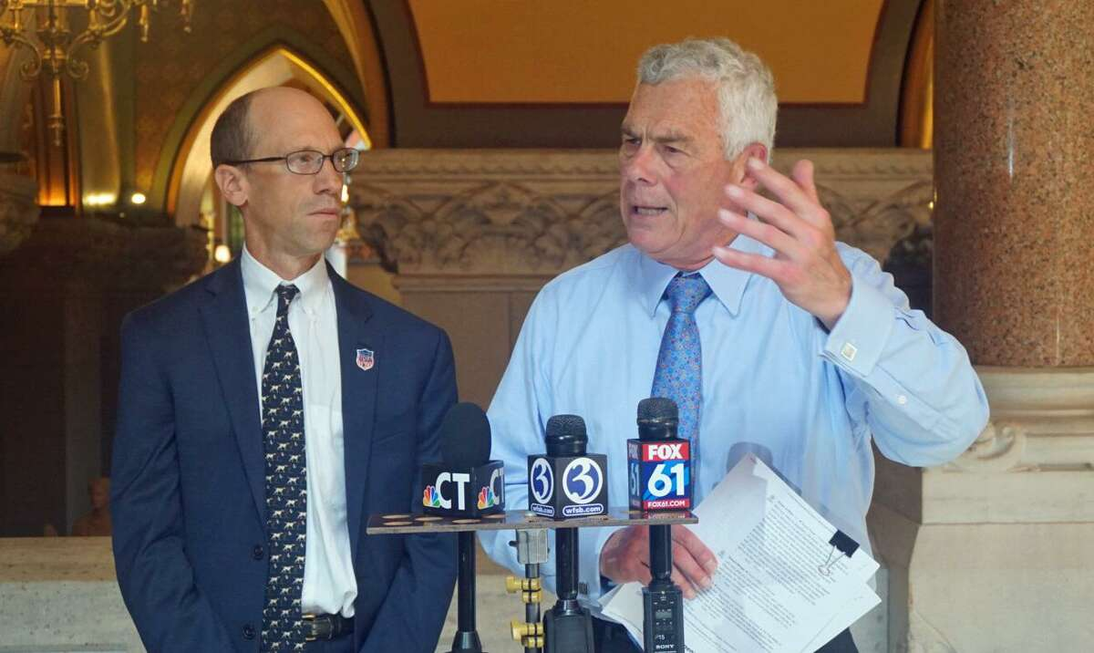 Oz Griebel (right) and Monte Frank are making an independent bid for the governor's office.