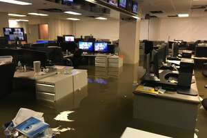 KHOU employees reflect on the damage inflicted on their long-time offices one year after Hurricane Harvey.