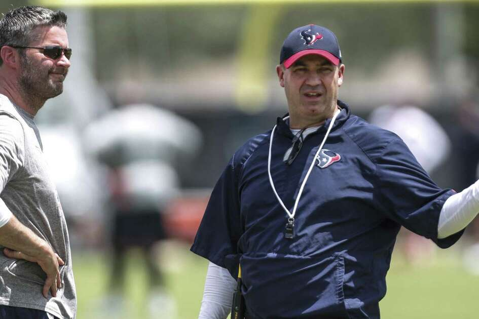 Texans general manager Brian Gaine, left, and coach Bill O'Brien agree the way to build a successful NFL franchise is make the best use the of the draft.